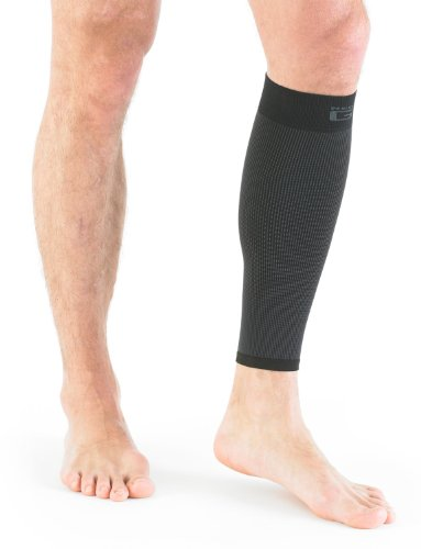 NEO G Airflow Calf/Shin Support – SMALL – Black – Medical Grade Quality sleeve, Multi Zone Compression, lightweight, breathable, HELPS strains, sprains, injured, weak calves/shins – Unisex Brace