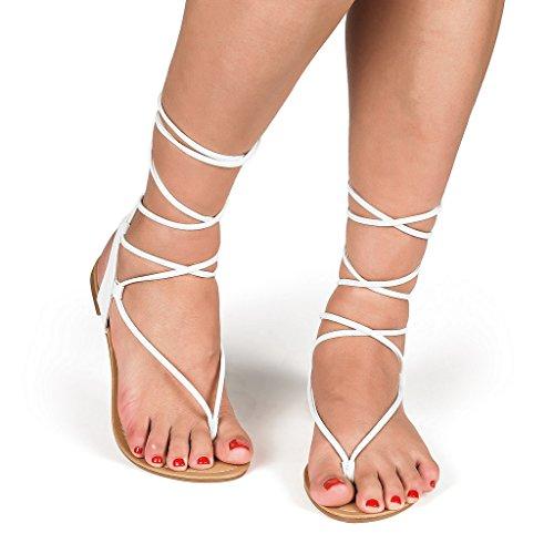 DREAM-PAIRS-Womens-DARRE-Tie-Up-Gladiator-Flat-Sandals-Flat-Sandals