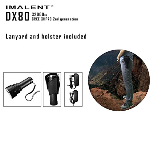 Fullfun IMALENT DX80 XHP70 32000lumens Rechargeable Powerful Flood/Outdoor LED Seach Flashlight by Fullfun (Image #8)