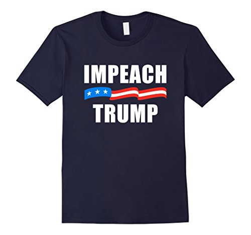 Men's Impeach Trump T-Shirt 2XL Navy