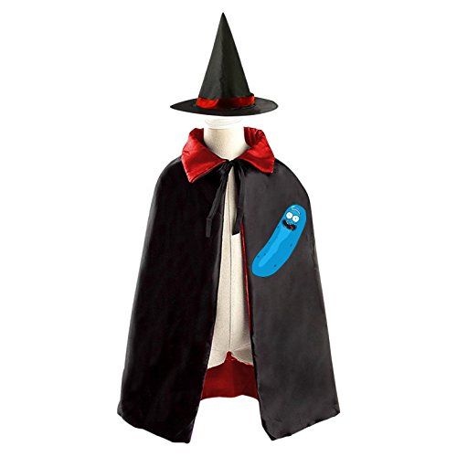 Rick James Halloween Costume (All Saints' Day Witch Poncho Cap Costumes Print With Rick/Pickle Logo For Kids)