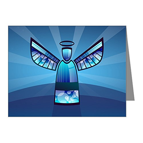 - Greeting Card Contemporary Abstract Stained Glass Angel