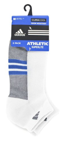 adidas Men's Superlite CC 3-Pack Low Cut Sock