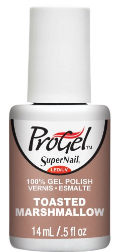 Supernail Progel Nail Lacquer, Toasted Marshmallow, 0.5 Fluid Ounce