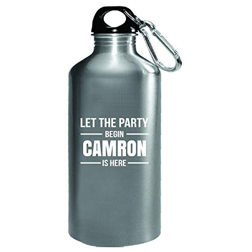 Let The Party Begin Camron Is Here Cool Gift - Water Bottle