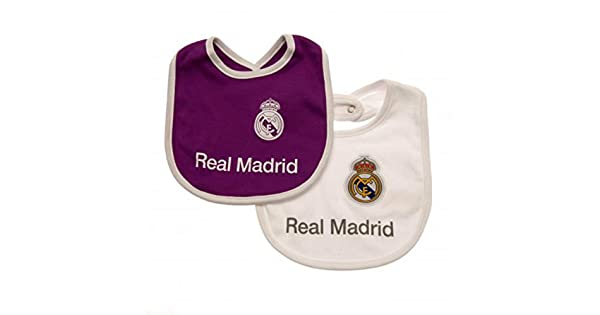Amazon.com: Real Madrid bebé babero (2 unidades), color ...