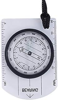 LIUYUNE,Mini règle d'échelle de Carte de Boussole de Plaque de Base pour la randonnée en Camping en Plein air(Color:Transparent)