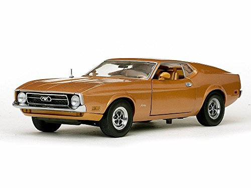 (1971 Ford Mustang Sportsroof, Brown - Sun Star 3619 - 1/18 Scale Diecast Model Toy Car)
