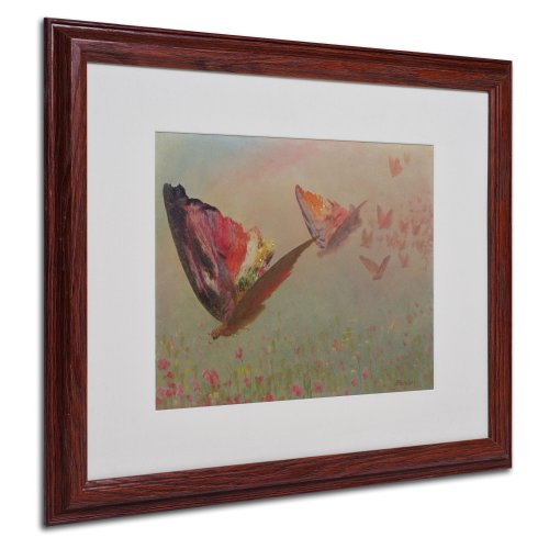 Bierstadt Canvas Frame - Butterflies with Riders Canvas Wall Art by Albert Bierstadt with Wood Frame, 16 by 20-Inch