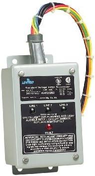 Leviton 42412-DS3 120 240 120 Volt Hi-Leg Split Phase Delta Panel Protector, Enhanced Noise Filtering, NEMA 3R Enclosure