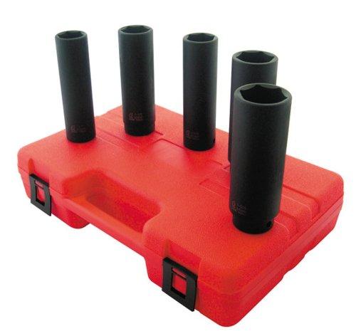 Sunex 2845 1/2-Inch Drive Extra Deep SAE Impact Socket Set, 5-Piece ()