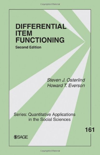 Differential Item Functioning: 161 (Quantitative Applications in the Social Sciences) by Steven J. Osterlind (2009-09-01)