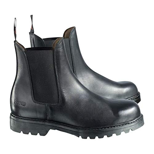 HORZE Jodhpur Pull-On Boot with Steel Toe - Black 9.5
