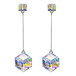 Dangle Earrings with Swarovski Crystals