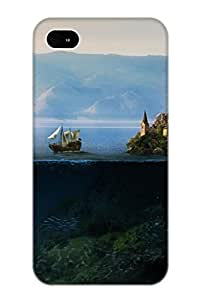 Exultantor Anti-scratch And Shatterproof Above And Below Phone Case For Iphone 4/4s/ High Quality Tpu Case Kimberly Kurzendoerfer
