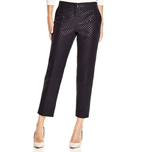 weekend-by-maxmara-womens-black-capo-polka-dot-jacquard-pants