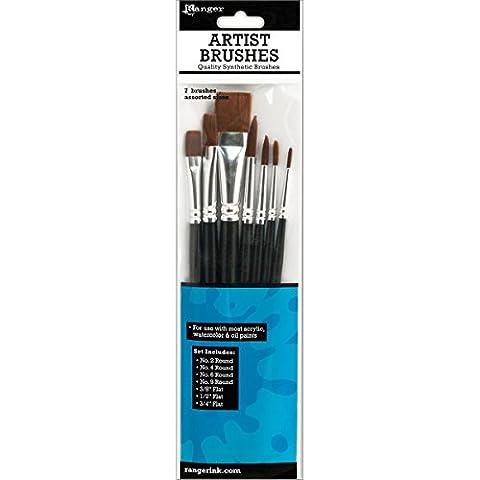 Ranger 7-Piece Artist Brush Set (Flat Top Paint Brush)