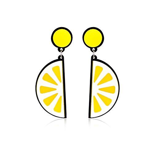 Fashion Dangle Earrings Novelty Funny Acrylic Fruit Earrings for Women Girls Party/Bar/Gifts