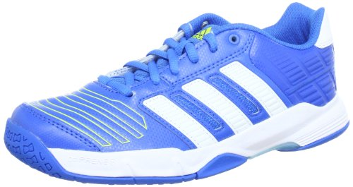 adidas Performance Court Stabil 2 xJ G60061 Unisex-Kinder Hallenschuhe Blau (BRIGHT BLUE F12 / RUNNING WHITE FTW / LAB LIME F12)
