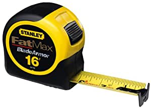 Stanley 33-716 16-Foot-by-1-1/4-Inch FatMax Tape Rule with Blade Armor
