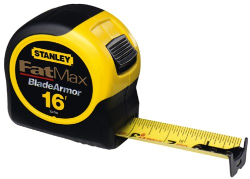 Stanley Tools 33-716 16-Foot-by-1-1/4-Inch FatMax Tape Rule with Blade Armor by Stanley Tools