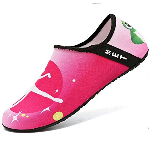 NEWCOSPLAY Barefoot Shoes Quick-Dry Yoga Socks Slip-on For Women Men Kids Pinkballet rlvnEb8yOo