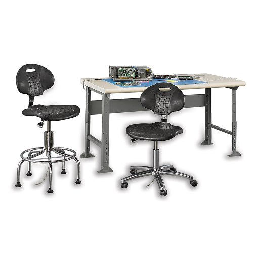 Bevco Static Control Seating - Bevco Static-Control Seating - Chair - 5-Star Base - Esd Glides - Black
