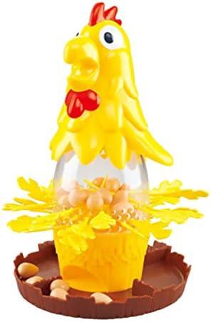 Toyvian テーブルバランスゲームチキンドロップ卵ゲームコックフェザーおもちゃ雄鶏描画たくさんおもちゃ大人の子供のために