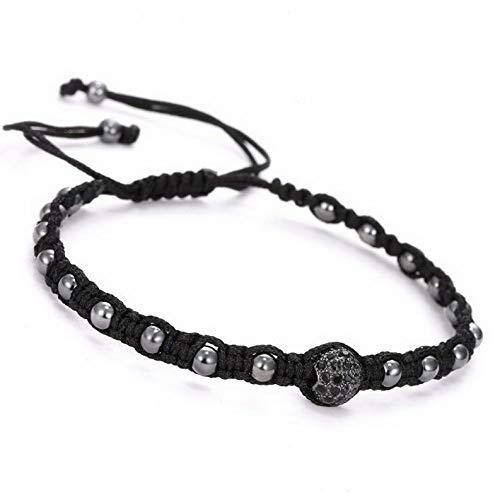 (Mikash Unisex Hot Bead Braided Adjustable Bracelet Wrap Bangle Jewelry Fashion | Model BRCLT - 12218 |)