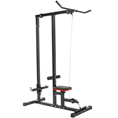 XtremepowerUS Lat Machine Low Row Cable Pull Down Fitness Machine by XtremepowerUS