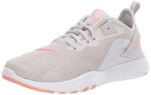 Nike Women's Flex Trainer 9 Sneaker vast Grey Quartz-Echo Pink, 9.5 Regular US (Sneaker Heels Nike)
