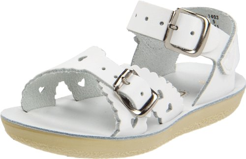 [Salt Water Sandals by Hoy Shoe Sweetheart,White,5 M US Toddler] (Sweetheart Girl)