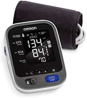 Omron 10 Series Wireless Bluetooth Upper Arm Blood Pressure Monitor with Two User Mode (200 Reading Memory) - Compatible with Alexa