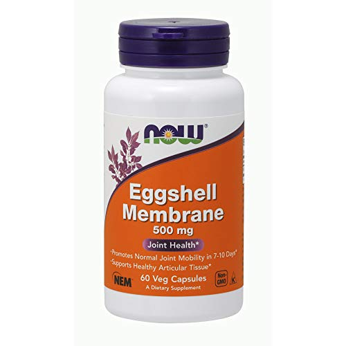 (NOW Supplements, Eggshell Membrane (A Unique Biological Matrix Composed of Major Joint Constituents) 500 mg, 60 Veg Capsules )
