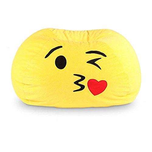 GoMoji Emoji Kiss Bean Bag Chair