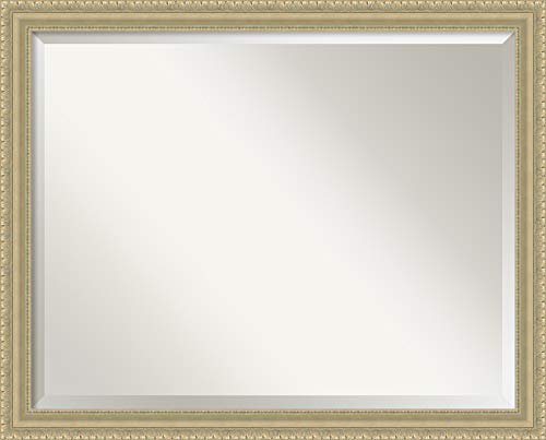 Amanti Art Framed Vanity Mirror | Bathroom Mirrors for Wall | Champagne -