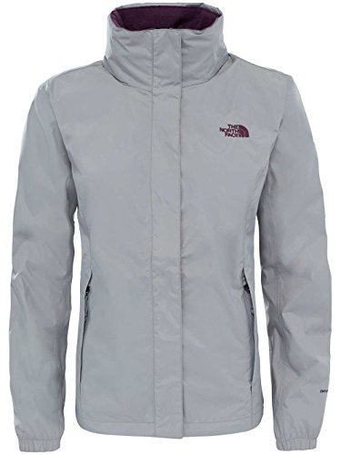 The North Face W Resolve 2 Chaqueta, Mujer Plateado (Metallic Silver)