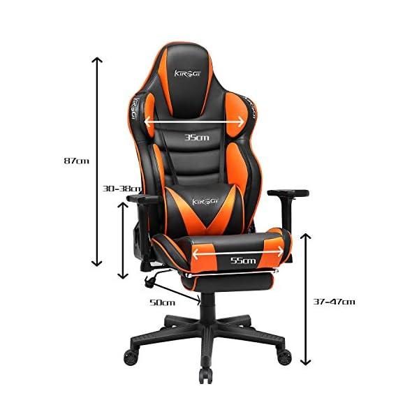 Kirogi Chaise Gaming Ergonomique PC Chaise Fauteuil de Bureau Gamer Chaise Gaming avec Repose Pied Conception Musculaire…