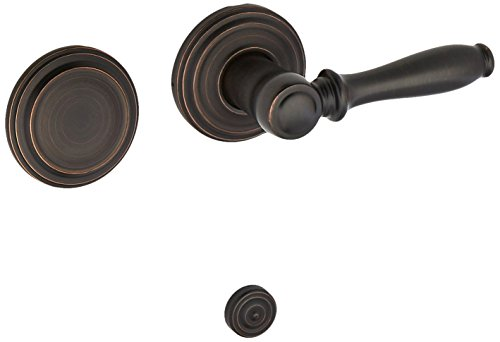 Ashfield Handleset - Kwikset 968ADL-11P Ashfield Interior Dummy Handleset Trim Venetian Bronze Finish