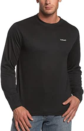 Carhartt Men's Midweight Work Dry Thermal Crewneck Top,Black  (Closeout),Small