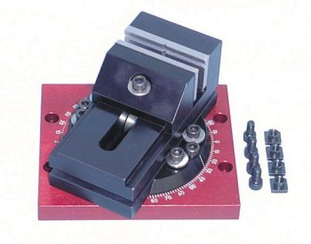 Mill vise with rotating base