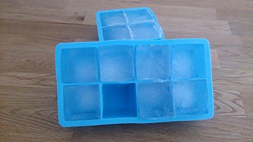 Diamond-Cool-2-Moldes-para-8-cubitos-de-hielo-XXL-Molde-azul-de-silicona-para-cubitos-de-hielo-y-tambin-para-el-horno