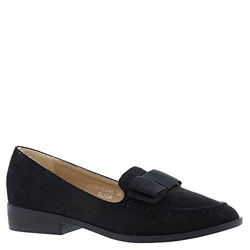 Toe Almond Fabric Loafers B Black ADORIENNE Womens PATRIZIA 1FqPUvx