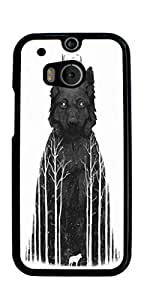 Wolf Animal Hard Case for HTC ONE M8 ( Sugar Skull )