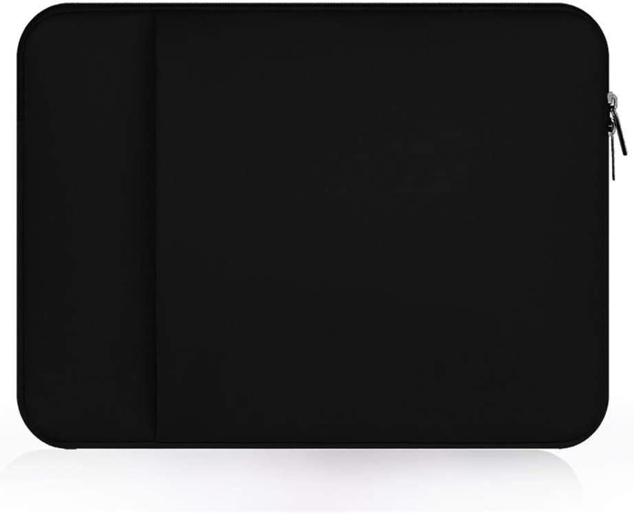 "Neoprene 12.5 inch Laptop Tablet Sleeve Case Bag Protective Cover for Apple iPad Pro 12.9"" MacBook 12"" Surface Pro 6, HP Chromebook x2 HP Stream 11.6, Google Pixel Slate/Pixelbook, Vaio SX12 (Black)"