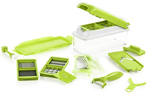 Genius Nicer Dicer Plus | 14 Pieces | Multi-Cutter | Food-Chopper | Slicing...