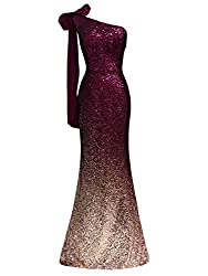 Women's Sparkling Sequin Mermaid Cap Sleeves Dress