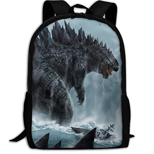 Godzilla Sea Print Multi-function Backpack College Bookbag
