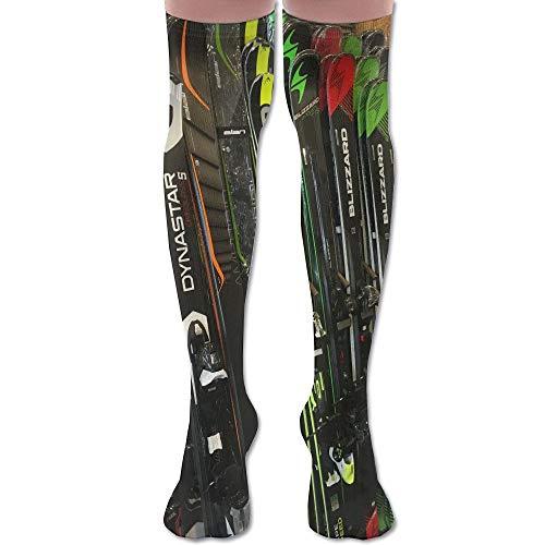 LKJH Twin Tip Snow Skis Unisex Socks Premium Soft Fancy Design Multi Colorful Patterned for Women Men