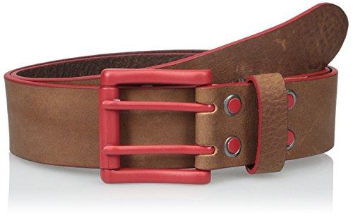Bill Adler Men's Electric Flag Belt, Brown/Red, 34